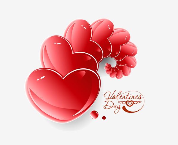 splendente San Valentino cuore