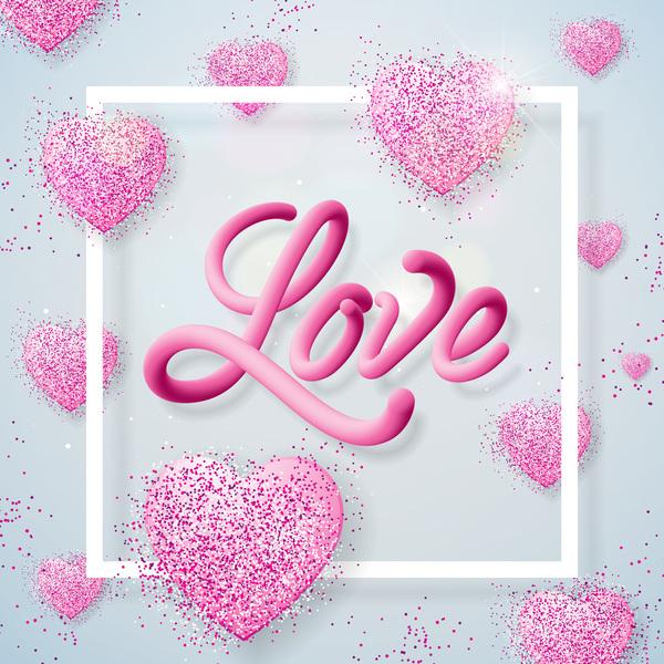 splendente San Valentino cuore bianco