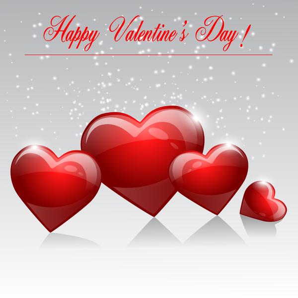 saint valentin rouge formes Coeur brillant