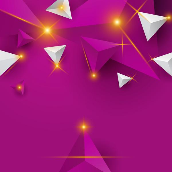 triangolo stelle lucido luce astratto