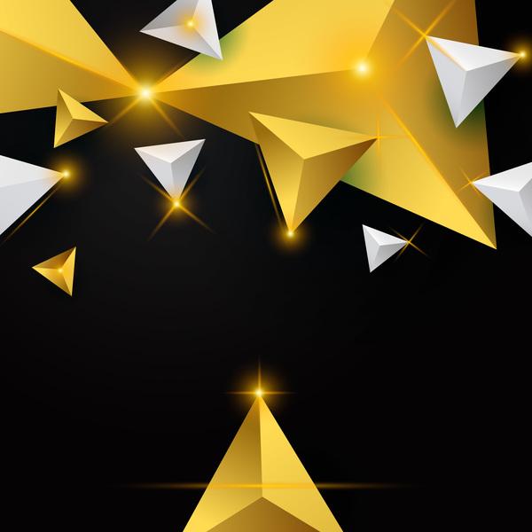 triangel stjärnor ljus glänsande Abstrakt
