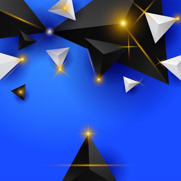 triangle léger étoiles brillant Abstrait