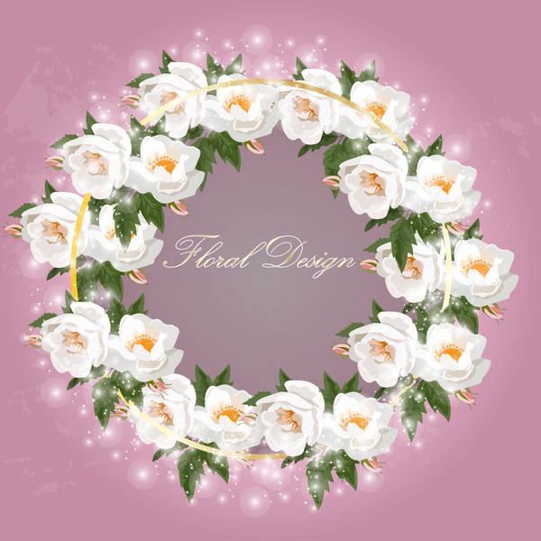 Rosa lucido corona bianco