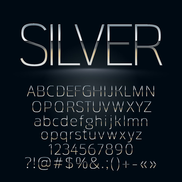 nombres argent alphabet