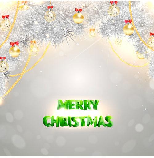 or Noel decoration argent