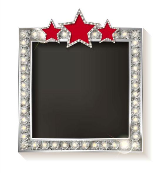 rouge Diamant cadre argent