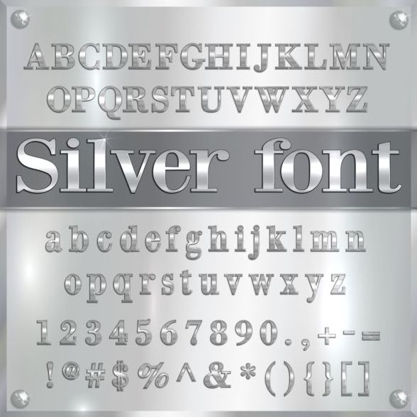 numero carattere argento Alfabeto