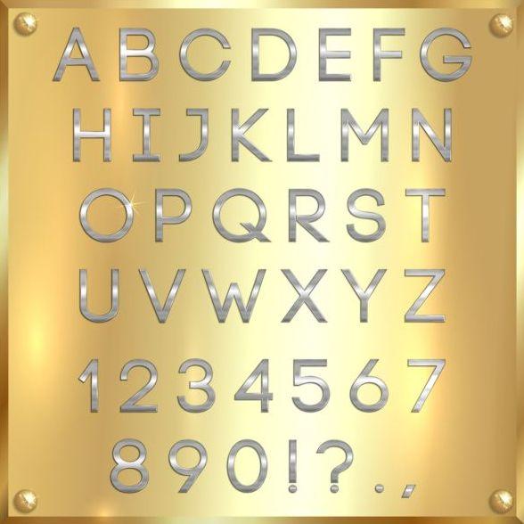 police numero argent alphabet