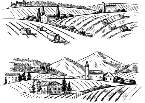 sketch rural