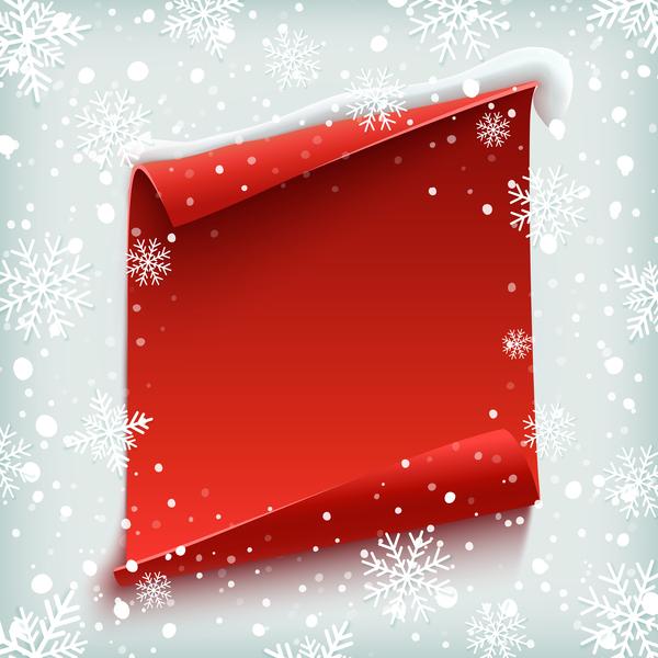 Schneeflocke rot Papier Leer