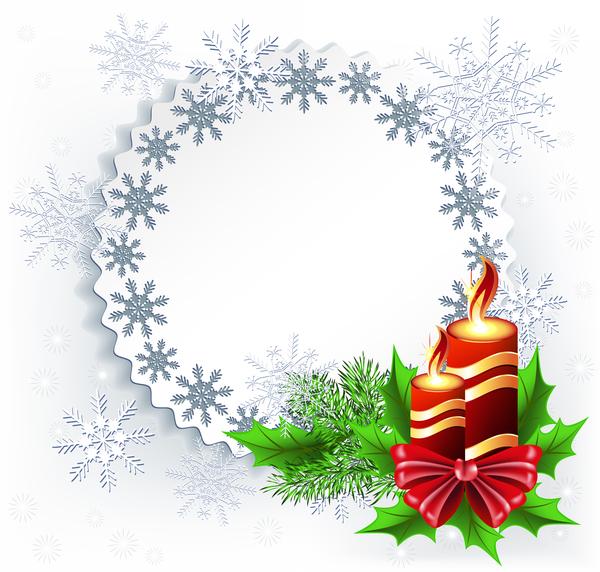 Noel houx flocon de neige carte