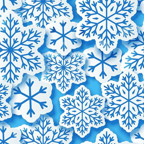 sans soudure Papier modèle flocon de neige Coupe