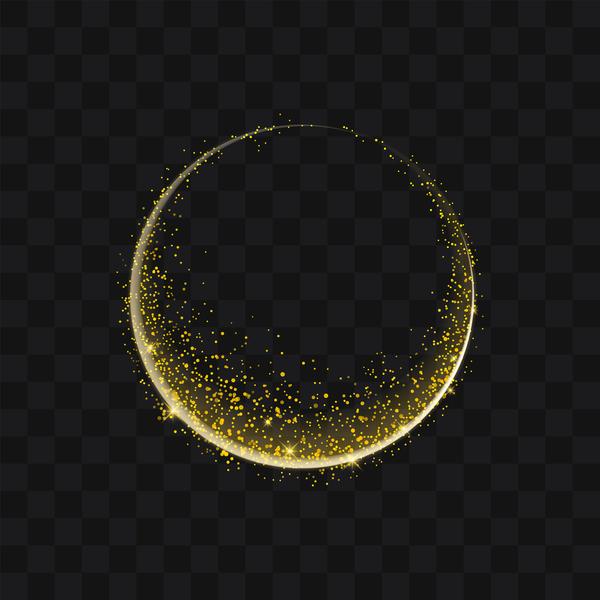 、黄金、粒子、ラウンド、スパーク リング