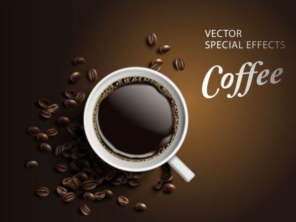 、コーヒー、効果、ポスター、特殊