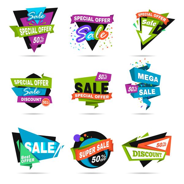 vendita speciale offerta etichette colorato