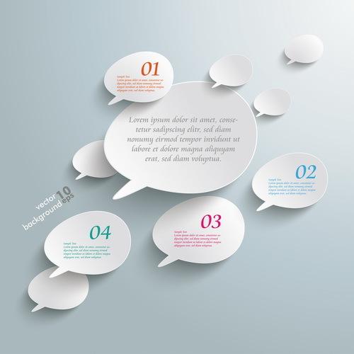 infografica discorso bubble bianco