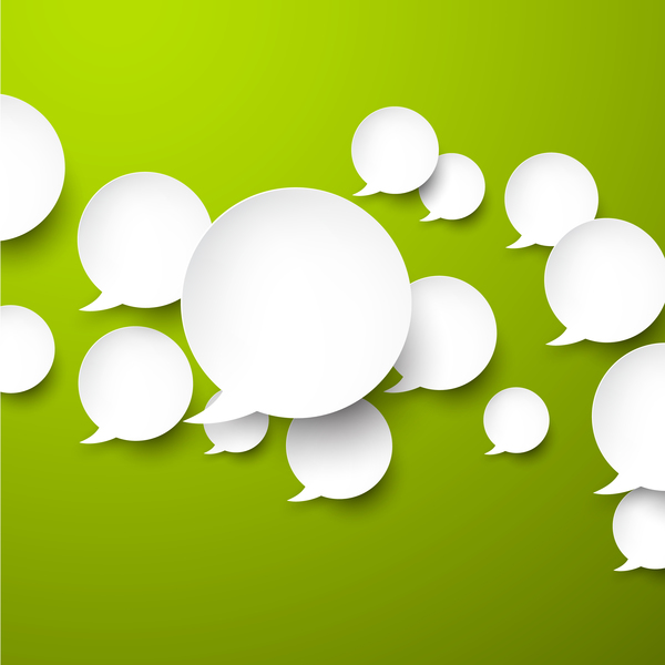 vert discours bulles