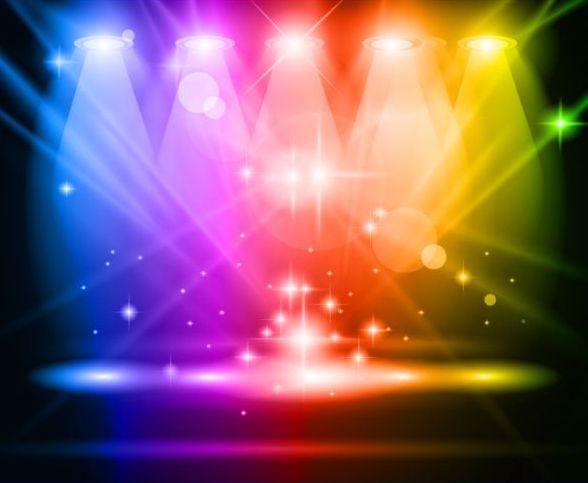 Strahler Leuchten bunt