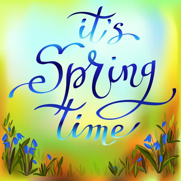 våren suddar Blomma blå