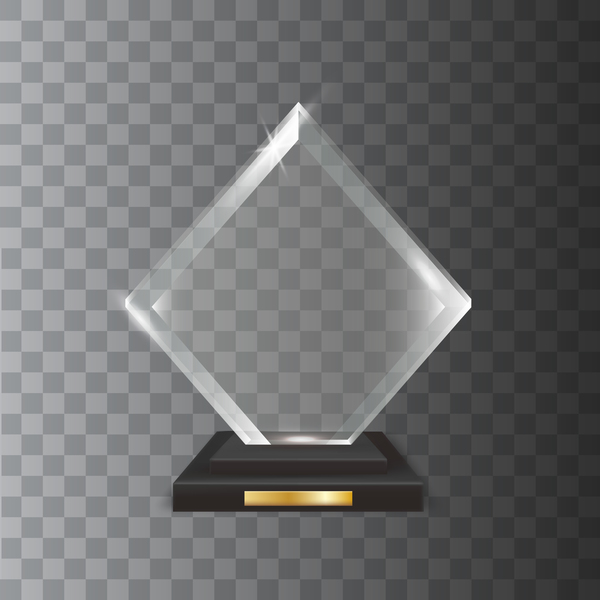 Trophäe quadratisch Glas award Acryl