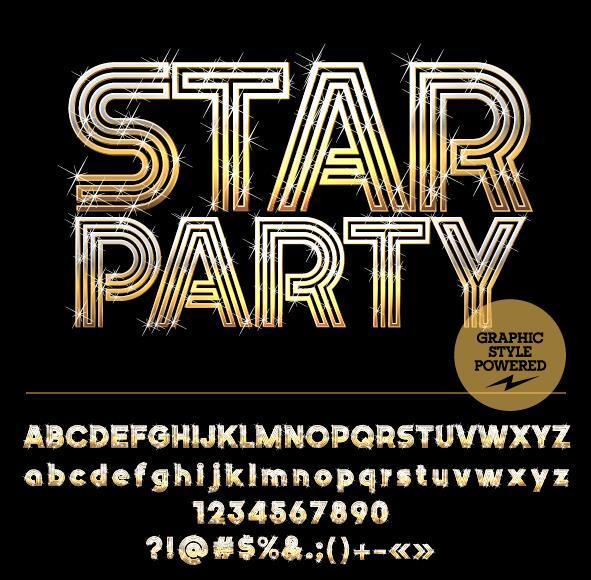 star Partito numero golden Alfabeto