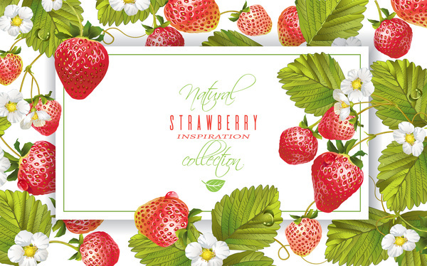 Rahmen Erdbeere