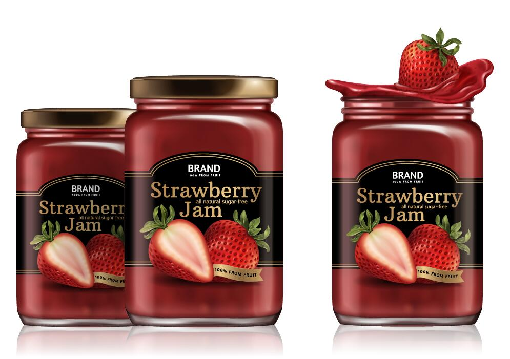 paquet jar fraise confiture