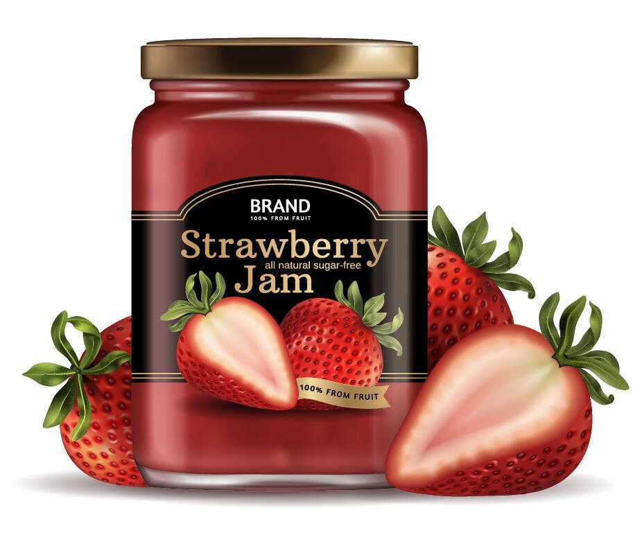 paket marmelade Erdbeere Einmachglas