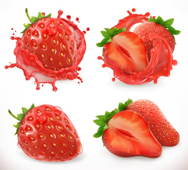 Spritzen Saft Erdbeere
