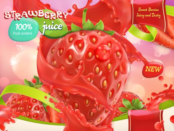 poster jus fraise