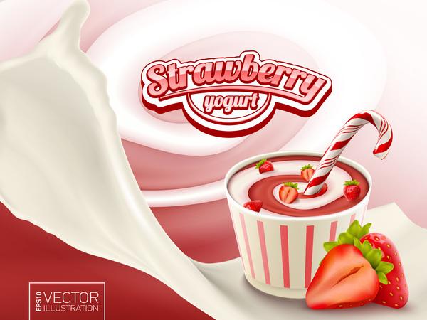 Yogurt alla fragola poster