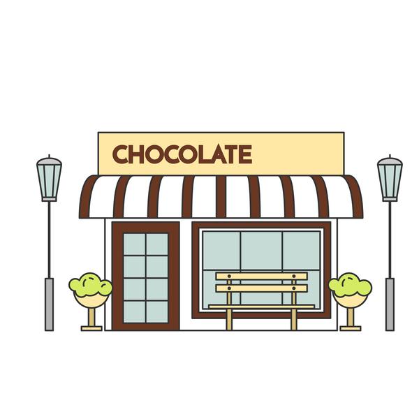 Straße shop Schokolade