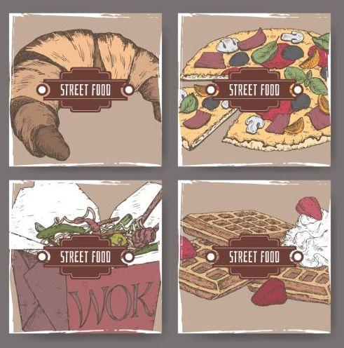Straße hand gezogen Essen