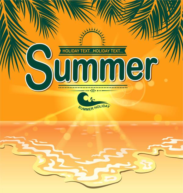 夏 休日 ポスター ビーチ