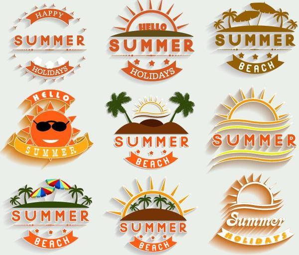 vacanze etichette estate
