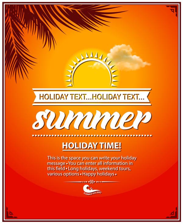 日の出 夏 休日 ポスター