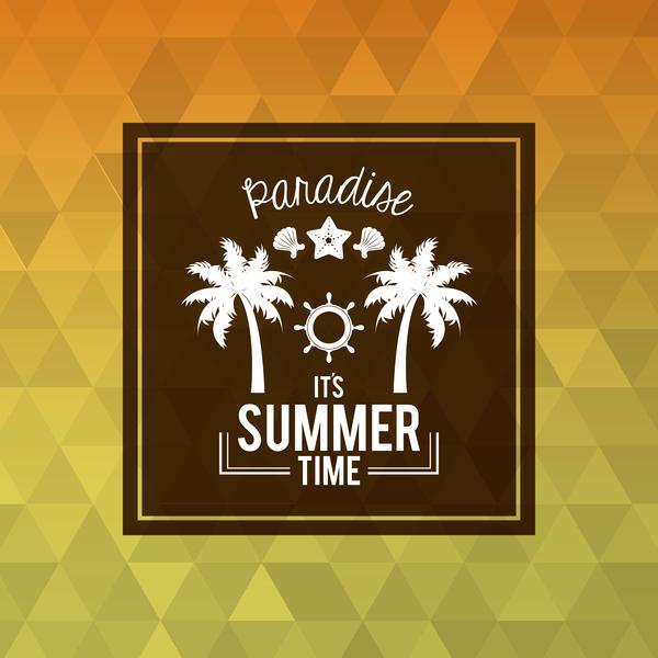 Urlaub Sommer Reisen poster nahtlos