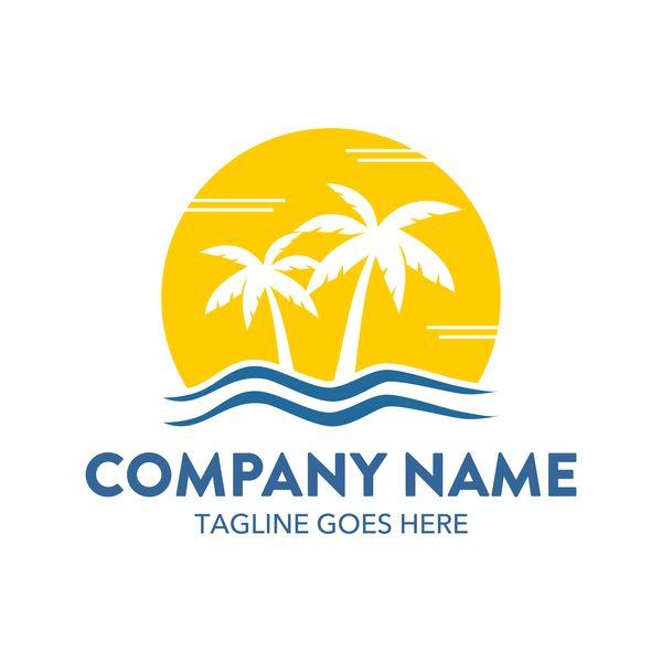 tree summer palm logos