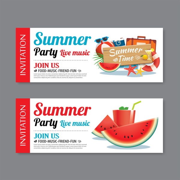 sommar party Musik live banners