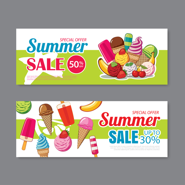 special sommar erbjuda banners