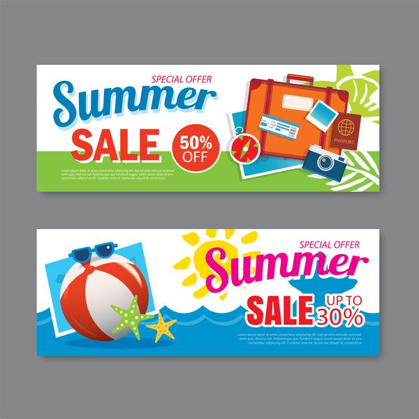 、バナー広告、提供、特別な夏