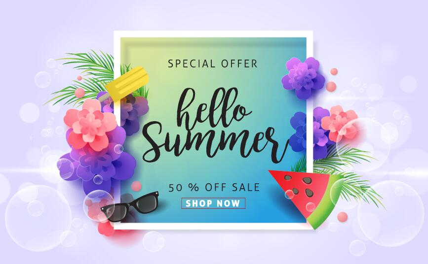 summer special sale poster offer