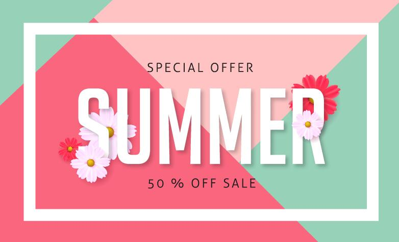 summer special offer sale poster vector 04 welovesolo