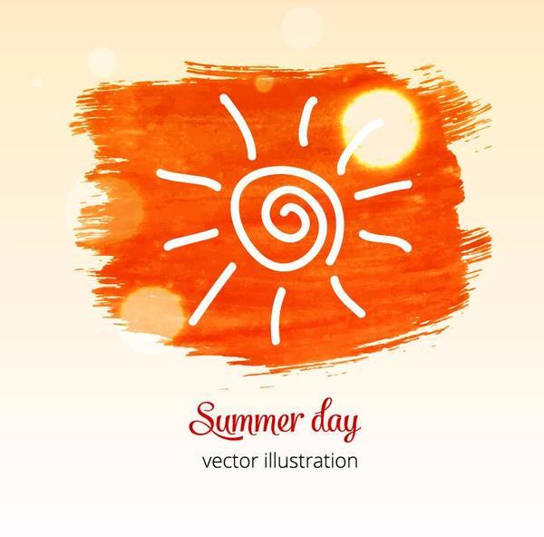 Watecolor l'été