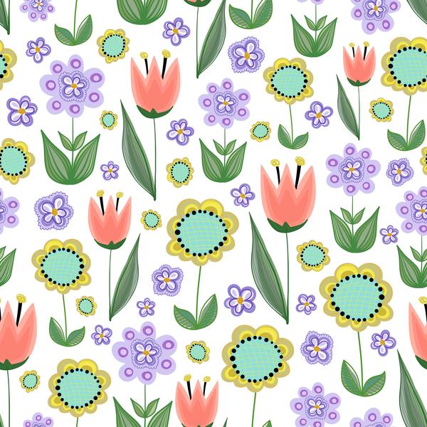 sunflower seamless purple pattern flower