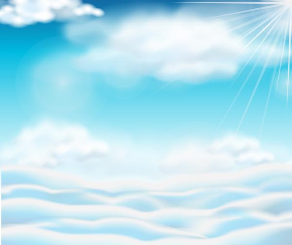 solljus sky Moln