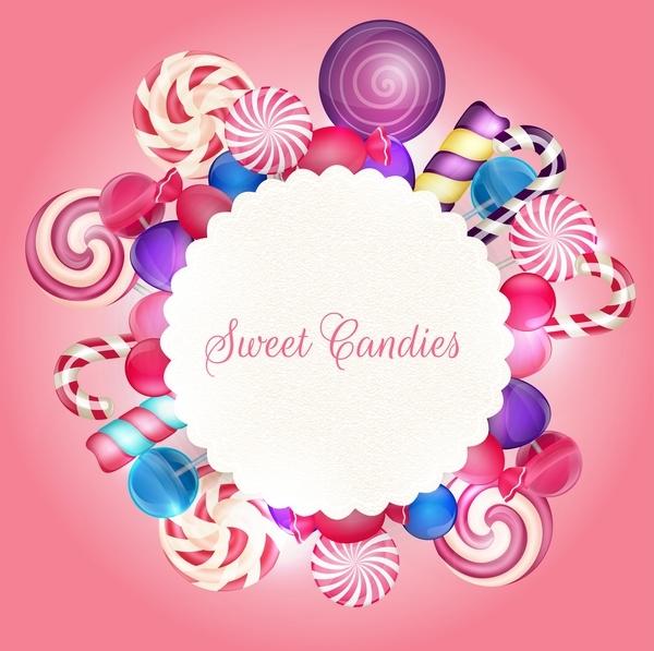 süß Karte bonbons