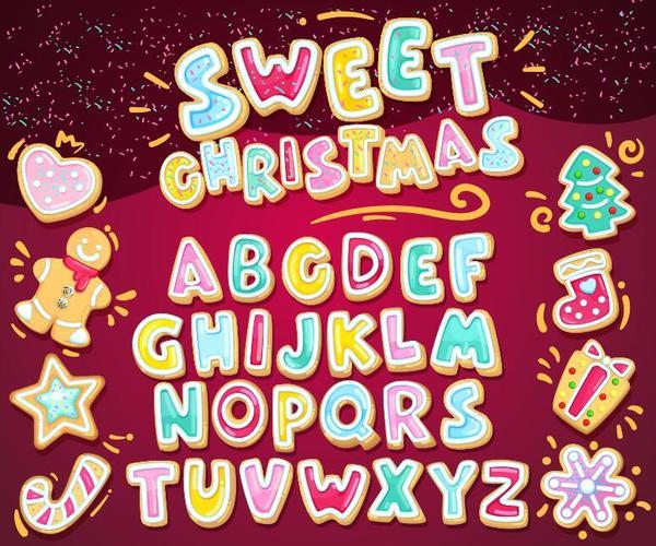 sött julgranskulor jul Alfabetet
