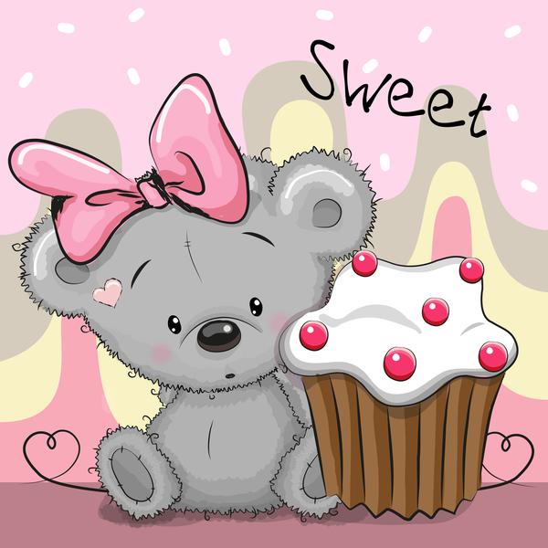 sweet kort cupcake