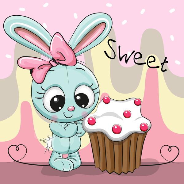 süß Karte cupcake